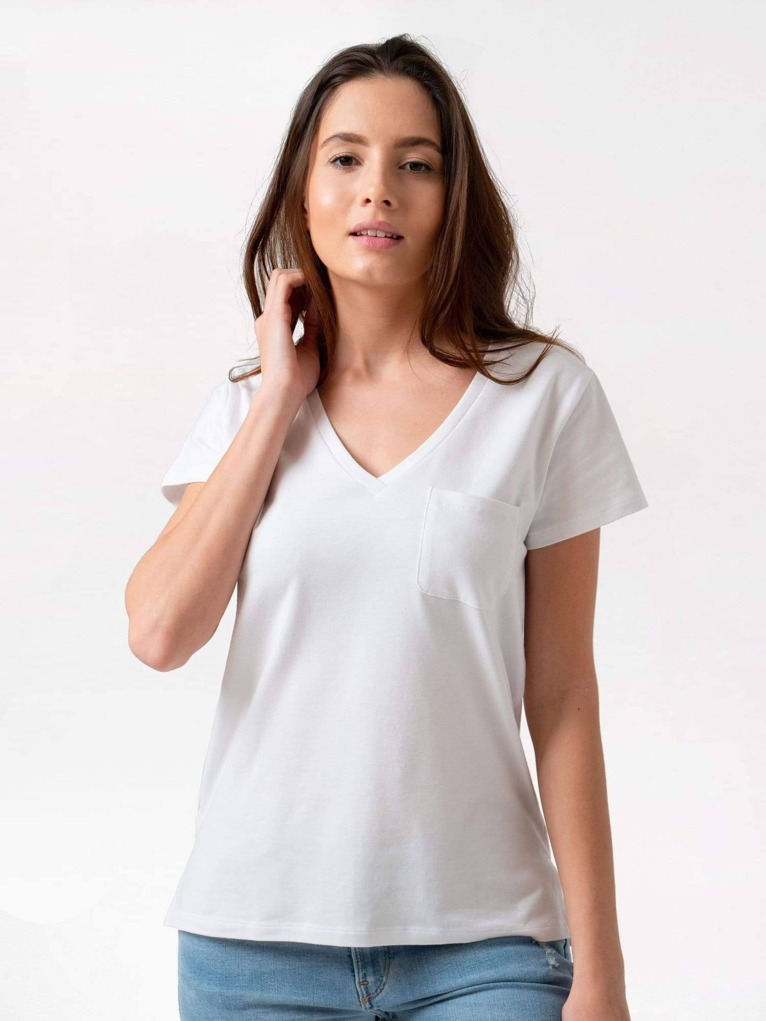 Women's Pocket Tee - White | Zaggora UK