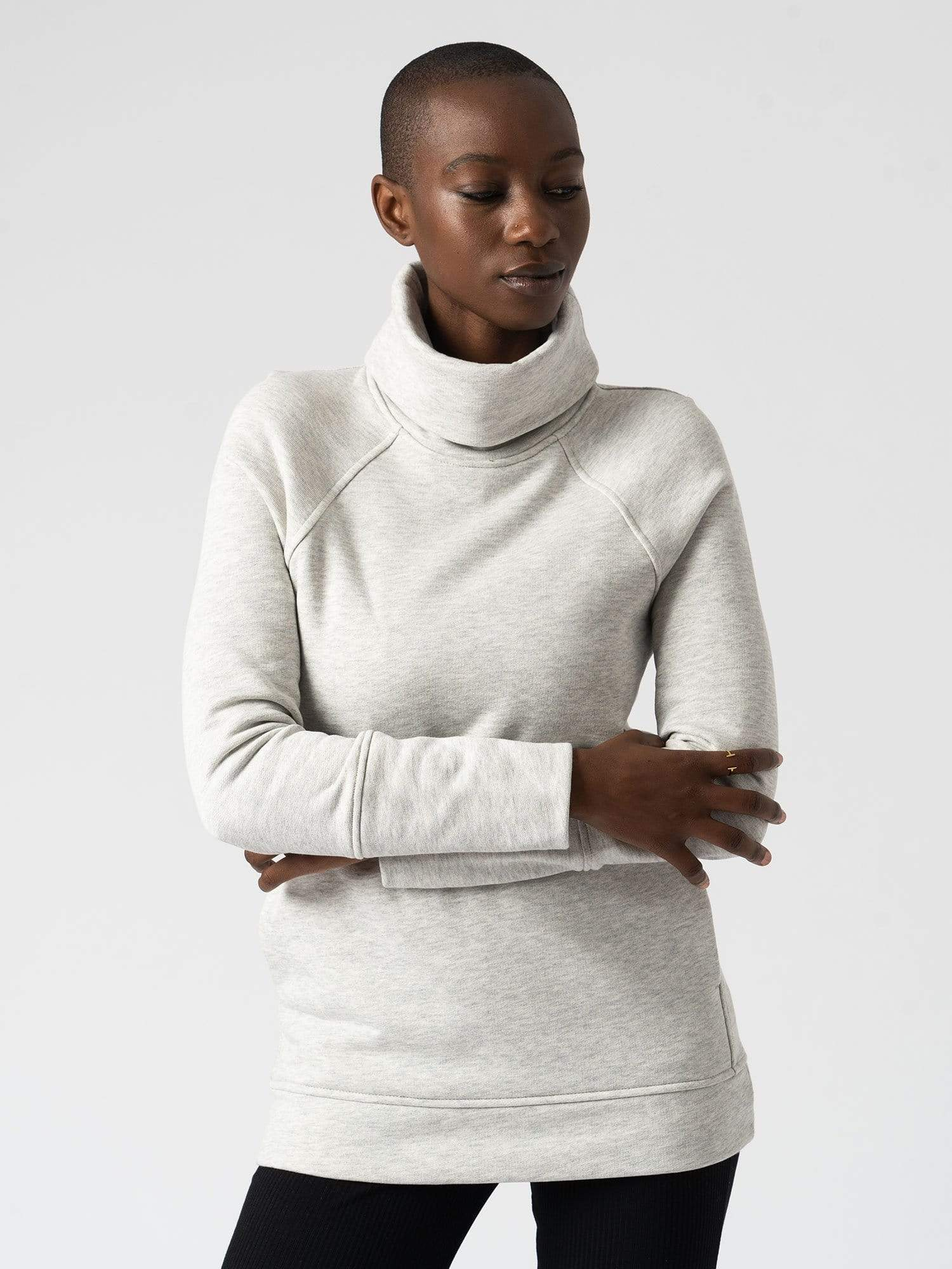 The Roll Neck - Grey
