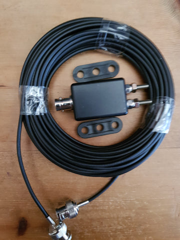 NEW MINI UNUN SUPER LIGH WEIGHT WITH 10M OF RG 174 COAX WITH BNC PLUGS FITTED