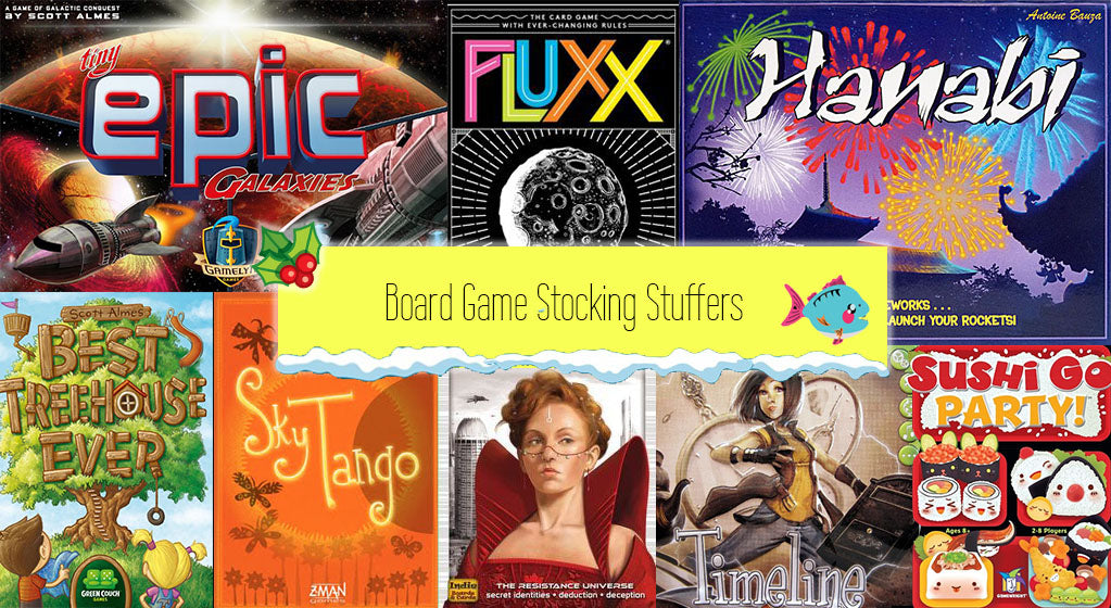 12 Board Game Christmas Stocking Stuffers for Geeks and Gamers