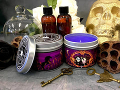 Death's Demise discworld inspired scented candle by Happy Piranha