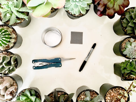 Preparing your candle tin for planting a succulent | Happy Piranha