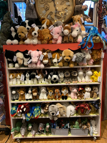 Soft toys and finger puppets at Happy Piranha Truro