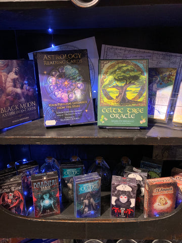 Tarot and oracle cards at Happy Piranha Truro