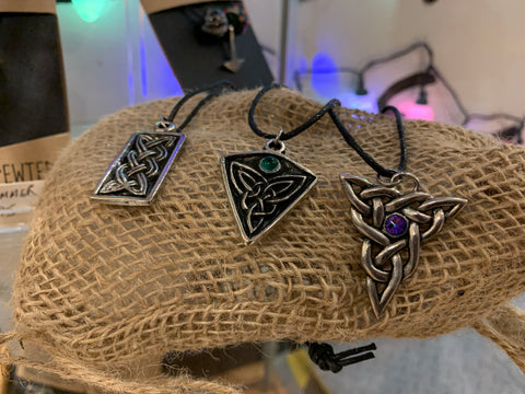 Viking and Celtic pewter jewellery at Happy Piranha Truro