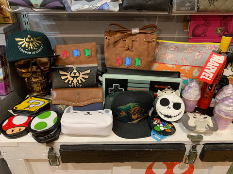 Geeky bags and wallets at Happy Piranha Truro