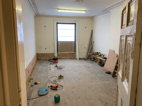 Where the principal function room will be for the games café project in Truro, Cornwall.