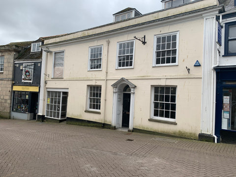 The building where the new Happy Piranha Store and Board Games Café will be in Pydar Street, Truro.