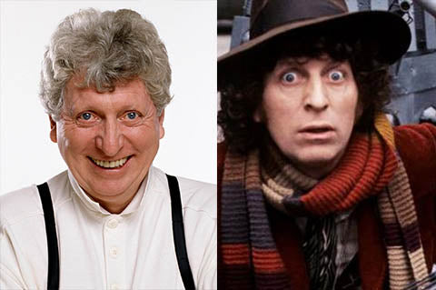 Tom Baker played the fourth reincarnation of Doctor Who.