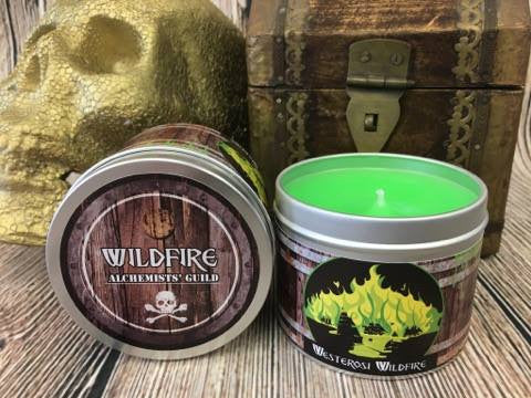 Westerosi Wildifre - a game of thrones inspired candle by Happy Piranha - happypiranha.com