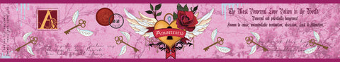Amortentia, Harry Potter inspired scented candle label design by Happy Piranha.