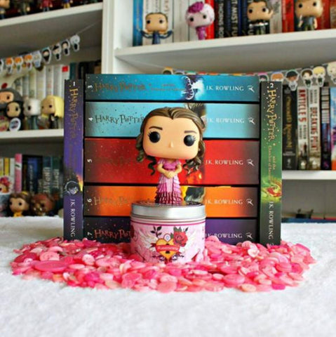 Our Harry Potter inspired  Amortentia love potion scented candle by reviews from a bookworm