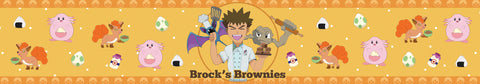 Brock's Brownies scented candle label design | Happy Piranha.