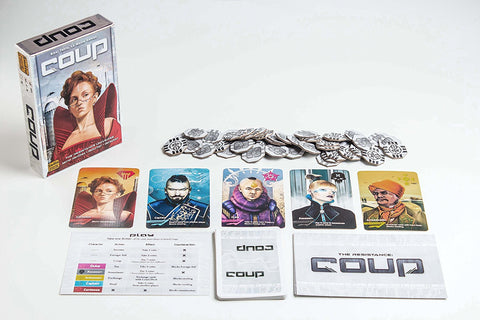 Coup | Boardgame stocking stuffers for geeks and gamers.