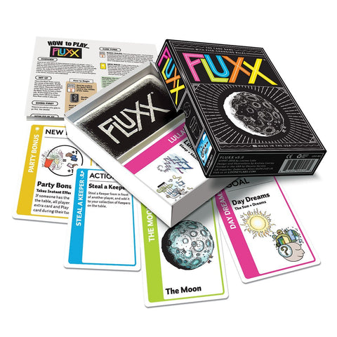 Flux card game by looneylabs | stocking stufferd for geeks and gamers | Happy Piranha
