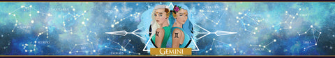 Gemini zodiac star sign scented candle label design | Happy Piranha.