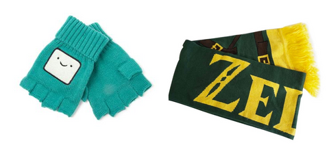 Gloves and scarfs at Happy Piranha