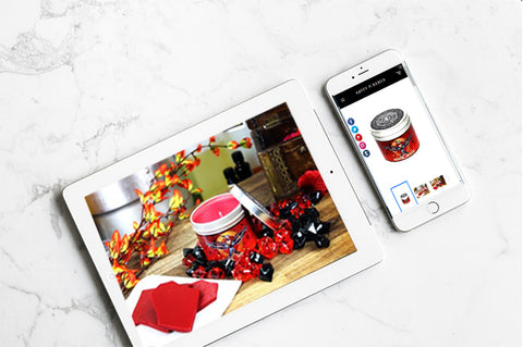 Happy Piranha Product images on tablet and phone