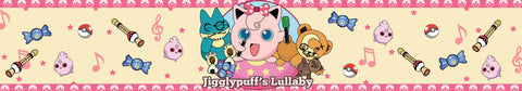 Jiggly puff lullaby pokemon inspired scented candle label design | Happy Piranha