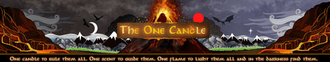 The One Candle product banner design by Happy Piranha