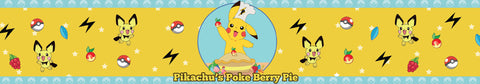 Pikachu's pokeberry pie pokemon inspired scented candle label design | Happy Piranha.