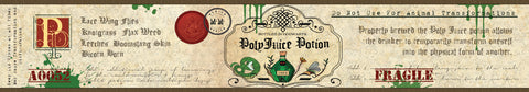 Polyjuice potion harry potter inspired candle label design | Happy Piranha.
