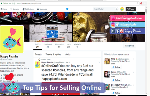 Happy Piranha on Twitter - our guide to selling online