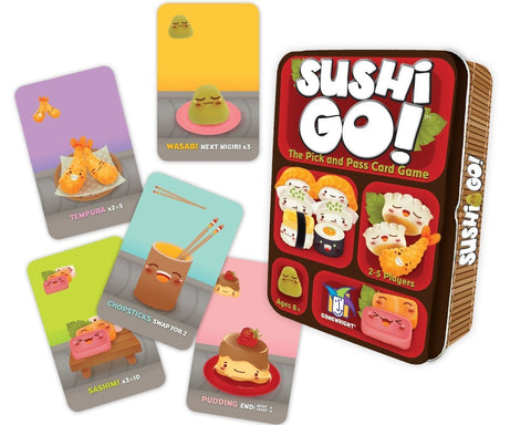 Sushi Go by Gamewright | Board game stocking stuffers for geeks and gamers | Happy Piranha