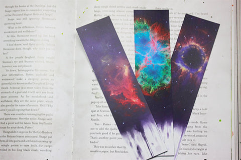 Till and Dill Galaxy water paint bookmarks