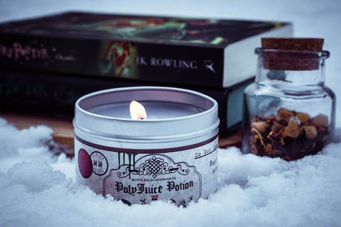 Polyjuice potion scented candle by Happy Piranha. Pic by @aweasleyinmiddleearth