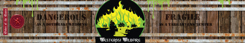 Westerosi Wildfire Game of Thrones inspired candle label design | Happy Piranha.