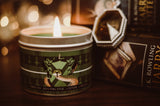 Ambition house Slytherin inspired scented candle by Happy Piranha