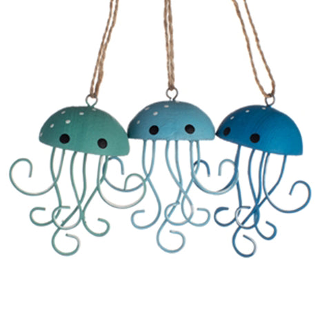 3D Jellyfish Metal Hanging Decoration | Happy Piranha
