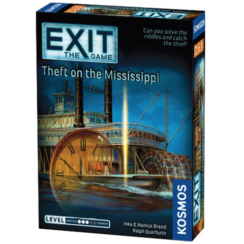 EXIT: Theft on the Mississippi - Escape Room Board Game | Happy Piranha