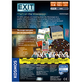 EXIT: Theft on the Mississippi - Escape Room Board Game Back of Box | Happy Piranha