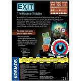 EXIT: The House of Riddles - Escape Room Board Game Back of Box | Happy Piranha