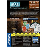 EXIT: The Mysterious Museum - Escape Room Board Game Back of Box | Happy Piranha