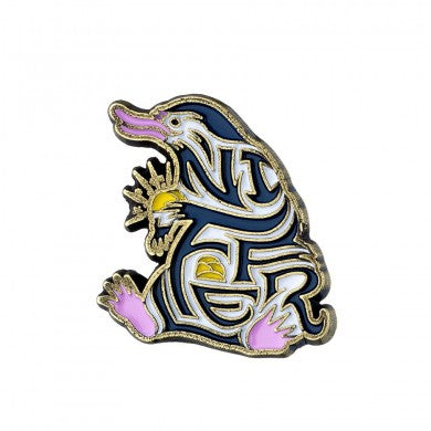 Fantastic Beasts Enamelled Niffler Pin Badge | Happy Piranha