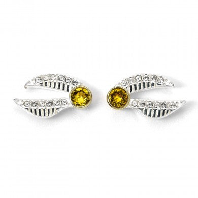 dccecfad9 Harry Potter Silver Golden Snitch Earrings with Swarovski Crystals | Happy  Piranha