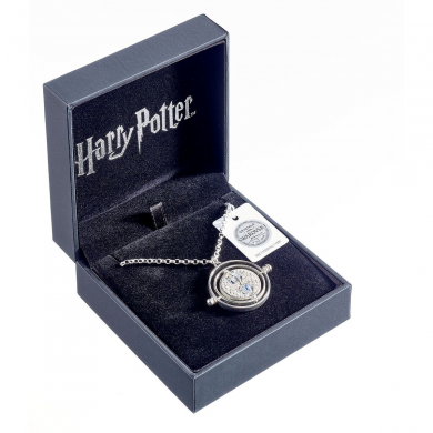 Harry Potter Silver Time Turner Necklace with Swarovski Crystals