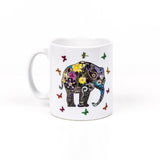Henna art elephant tea mug by Happy Piranha
