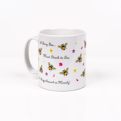 Busy Bee Mug - Happy Piranha - Quirky, Cute Designs