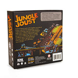 Jungle Joust Board Game back box design | Happy Piranha