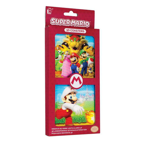 Super Mario 3D Lenticular Coaster Set | Happy Piranha