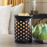 Old World - Illumination Wax Melt Warmer in a living room turned on