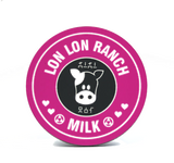 A pink lon lon ranch coaster By Happy Piranha inspired by Nintendo