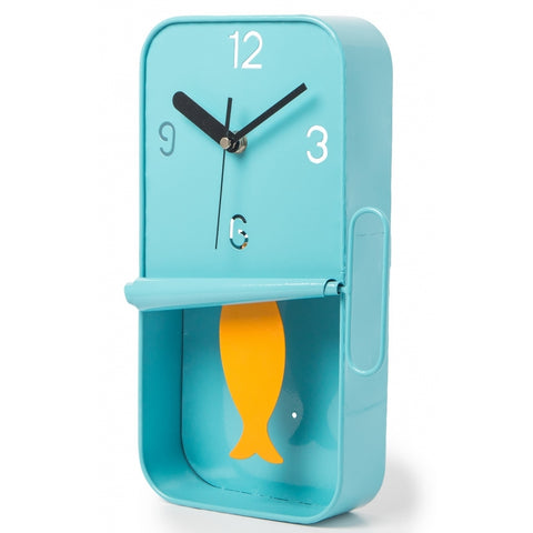 Sardine Tin Pendulum Wall Clock - Blue | Happy Piranha