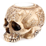 Celtic Tattoo Skull Tealight Holder | Happy Piranha