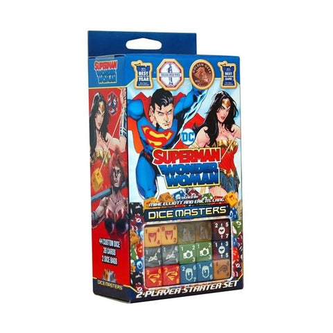 DC Comics Dice Masters: Superman and Wonder Woman Starter Set | Happy Piranha