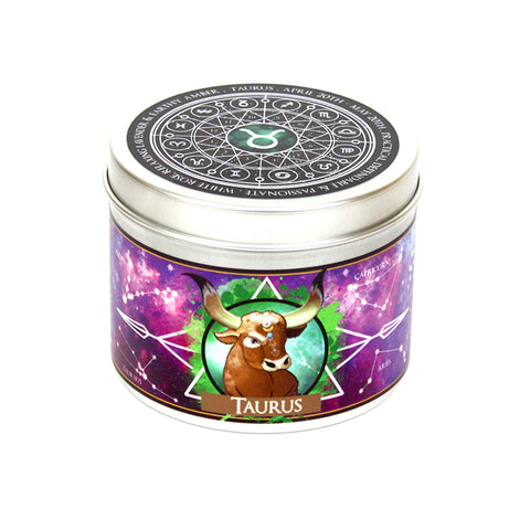 Taurus the Bull: Zodiac Star Sign Scented Candle | Happy Piranha